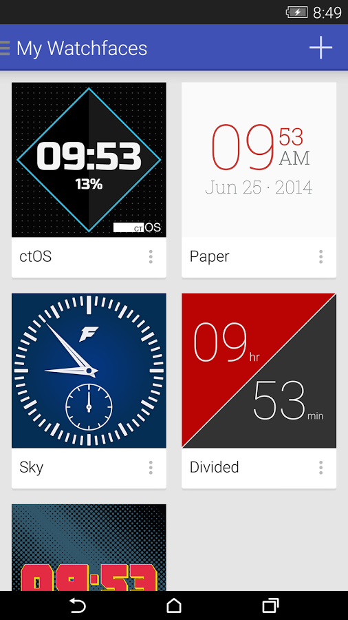 Screenshot von Facer for Android Wear - Android App