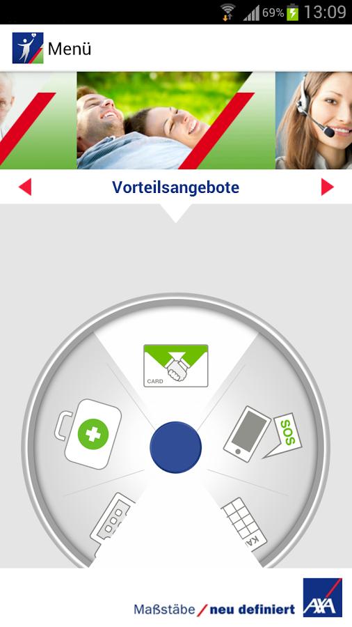 Screenshot von AXA Gesundheit und Reisen - Android App