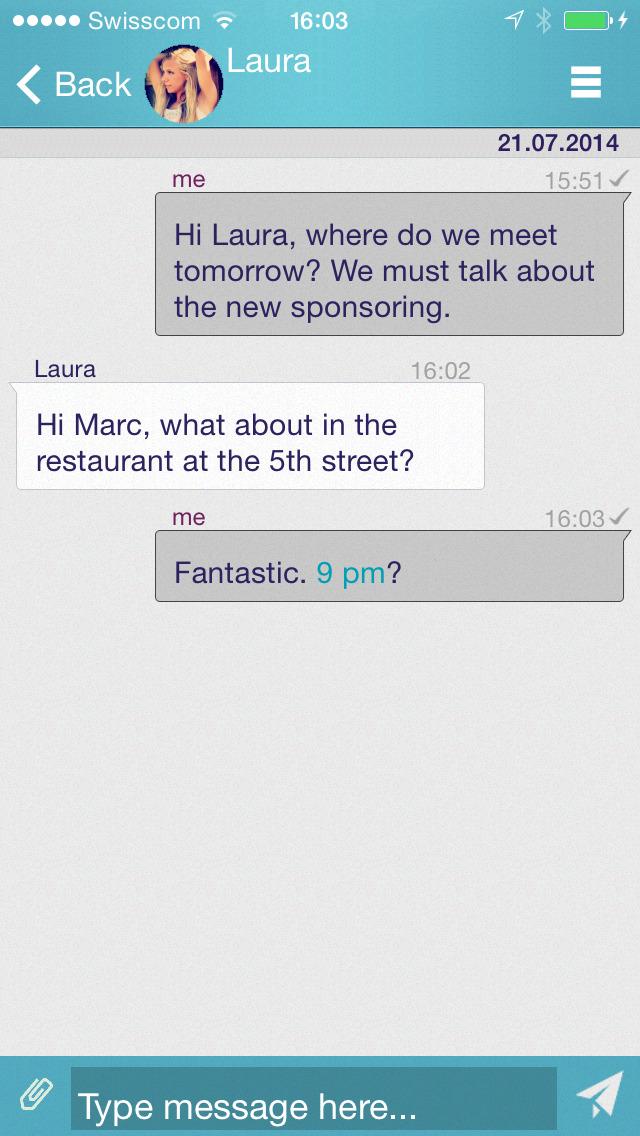 Screenshot von myEnigma iPhone-App