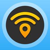 App Icon: WiFi Map Pro - Passwörter für kostenlosen drahtlosen Internetzugang an öffentlichen Hotspots in Deutschland und weltweit 2.4.0