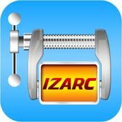 App Icon: IZArc - Extract files from ZIP, RAR and 7-ZIP archives. 1.4