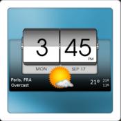 App Icon: 3D Flip Clock & Weather