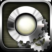 App Icon: LED Machines - LED flashlight,  alarm clock, morse machine, compass & weather forecast for iPhone 4 3.3