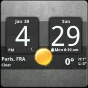 App Icon: Sense Analog Clock Widget Dark
